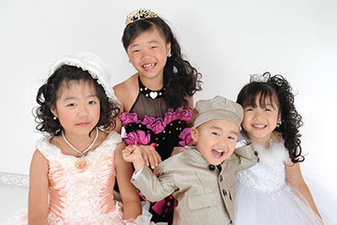 家族写真・ご姉弟・ドレス・タキシード