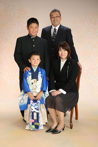 家族写真・5歳お祝い ご家族写真