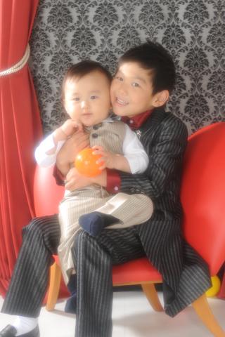 家族写真・チャイルドフォト・ご兄弟写真・タキシード