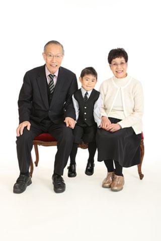 家族写真・記念写真 お祖父様・お祖母様と
