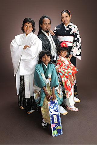 家族写真・みんなで着物