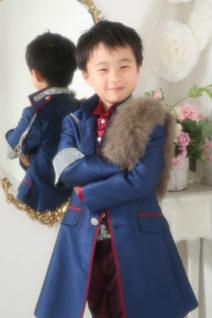 5歳・タキシード・紺・ファー