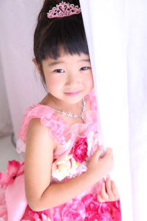 七五三・7歳・ドレス・ピンク