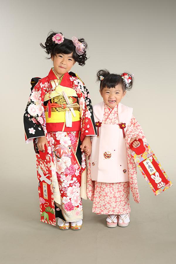 七五三・7歳・3歳・姉妹で着物