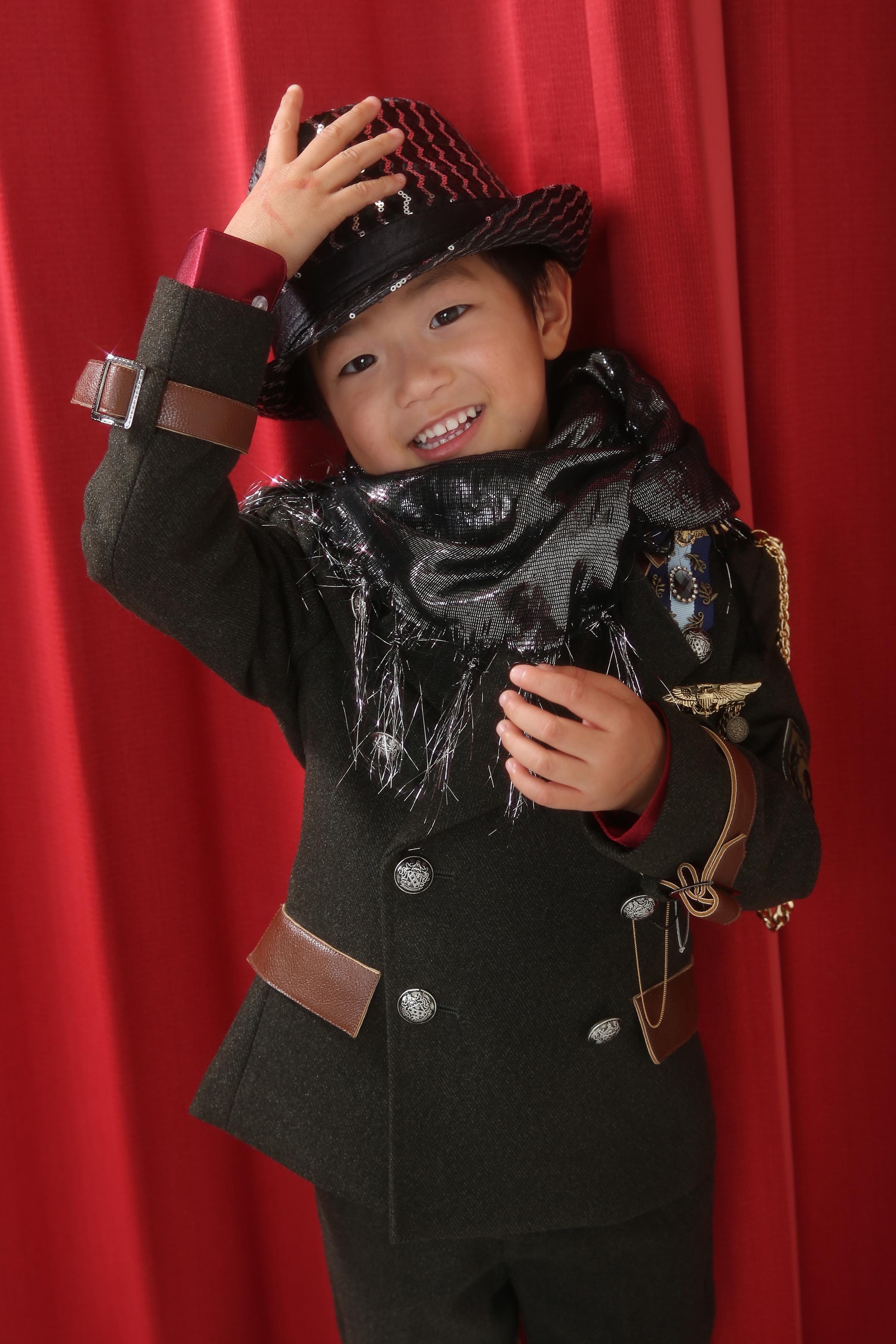 753・5歳・タキシード・カーキ色
