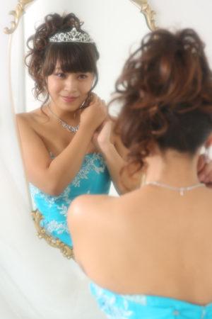 成人式・20歳・ドレス撮影・ブルー