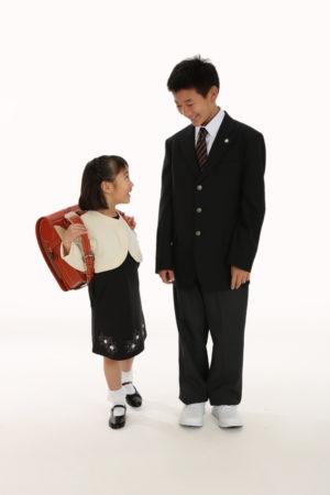 W入学記念写真・小学校・中学校