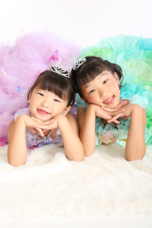 七五三・7歳・ドレス・お姉ちゃんと・2人でドレス撮影