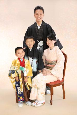 七五三・5歳袴・お兄ちゃん・お母様・お父様・家族全員着物