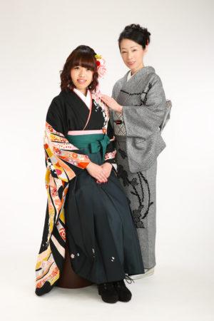 卒業袴・お母様着物・お母様と撮影
