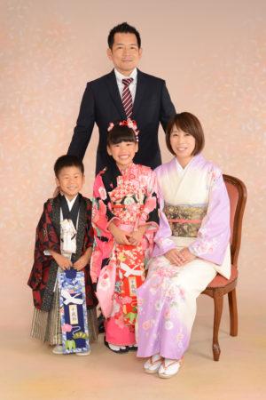七五三・7歳着物・5歳着物・お母様着物・家族写真