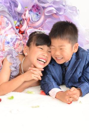 七五三・5歳タキシード・7歳ドレス・姉弟写真