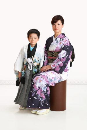 七五三・5歳袴・お母様着物・お母さんと撮影