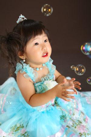 七五三・3歳・ドレス・水色