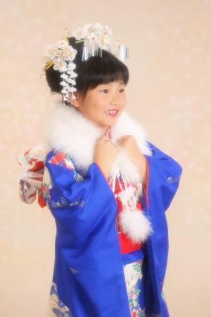 七五三・7歳・着物・日本髪