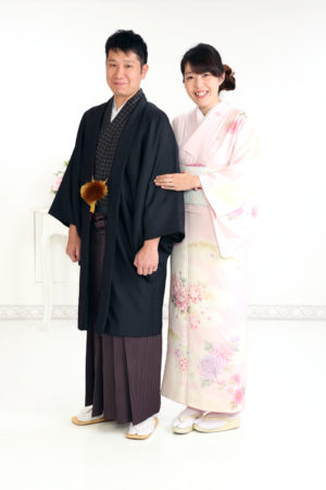 家族写真・ご夫婦で着物