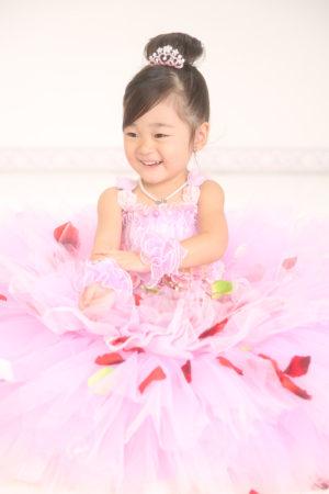 七五三・3歳・ドレス・ピンク