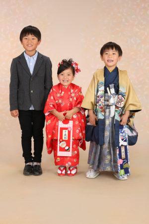 七五三・3歳着物・5歳羽織袴・ご兄妹写真