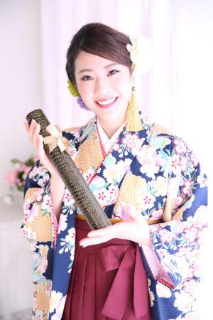 江戸川区・西一之江・30年卒業袴・紺×エンジ
