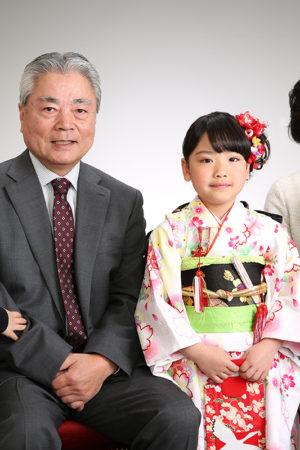 江戸川区 30年七五三 7歳 家族写真