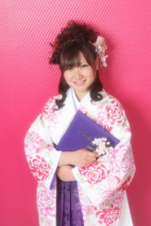 卒業式・卒業袴セット(白×紫)
