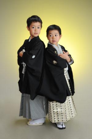 七五三・5歳袴・お兄ちゃんと撮影・兄弟着物撮影