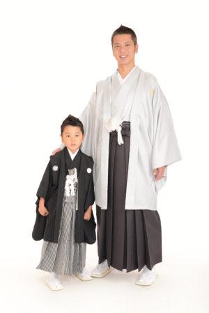 七五三・5歳袴・お父様袴・お父さんと撮影