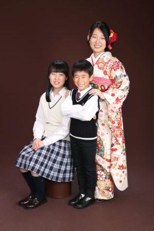 江戸川区・30年・成人式・振袖・ご姉弟写真
