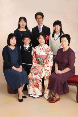 江戸川区・30年家族写真・成人式・振袖