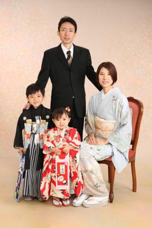 江戸川区・29年七五三・3歳・5歳・家族写真・ママも着物