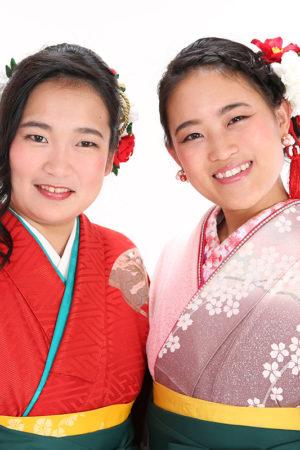 江戸川区・30年卒業式・袴・友達と撮影