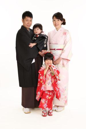 江戸川区・29年七五三・3歳・家族写真・家族で着物