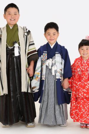江戸川区・29年七五三・兄妹写真・みんな着物