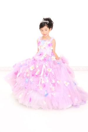江戸川区・29年七五三・7歳・ドレス・薄紫