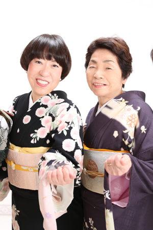 江戸川区・29年家族写真・家族で着物・女子会
