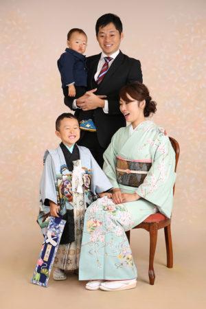 江戸川区・29年七五三・5歳・家族写真・お母様着物