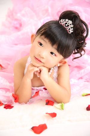江戸川区・29年七五三・3歳・ドレス・ピンク