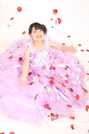 江戸川区 30年七五三 7歳ドレス 薄紫