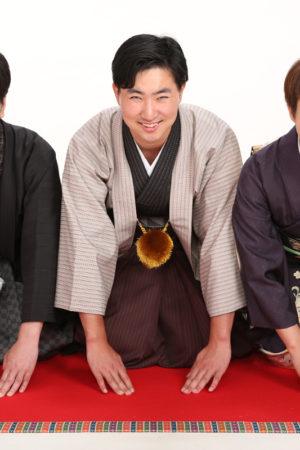 静岡県 30年 成人男性袴 家族で着物