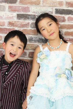 本八幡 七五三 7歳 5歳 姉弟 洋装