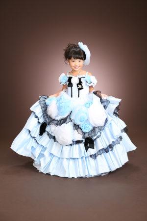 江戸川区 30年 七五三 7歳ドレス 水色