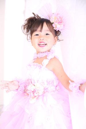 江戸川区 30年 七五三 3歳ドレス ピンク
