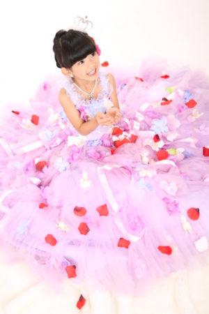 江戸川区 30年 七五三 7歳ドレス ピンク