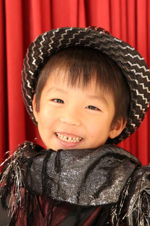 江戸川区 30年 七五三 5歳タキシード 黒×赤