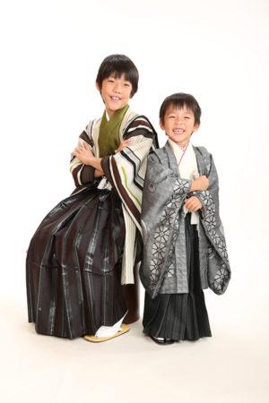 江戸川区 30年 七五三 5歳着物 ご兄弟撮影