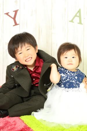 本八幡 七五三 五歳 バースデー 1歳 兄妹 前撮り タキシード ドレス