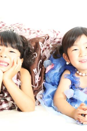 本八幡 七五三 七歳 三歳 前撮り 姉妹 ドレス