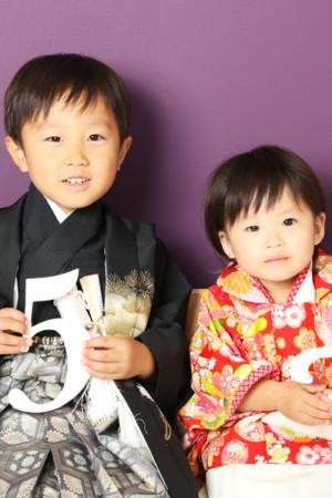本八幡 七五三 前撮り 兄妹 5歳 2歳
