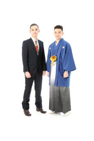 本八幡 男性袴 成人男性 成人式 前撮り 家族写真 兄弟写真 令和2年
