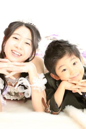 本八幡 七五三 前撮り 5歳 タキシード ドレス 洋装 姉弟 記念写真